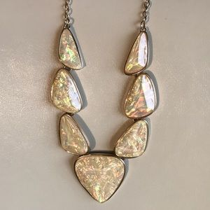 Geometric Opalescent Fashion Necklace